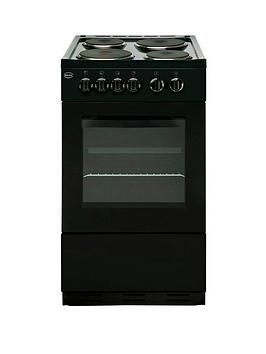 swan-sx1011b-50cm-single-oven-electric-cooker-black