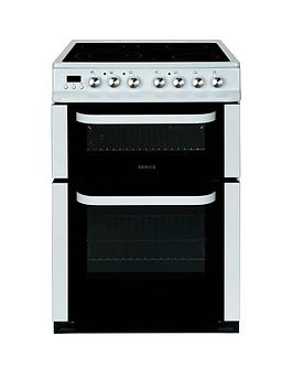 servis-dc60w-60cm-double-oven-electric-cooker-white