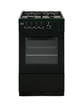 swan-sx1031b-50cm-single-oven-gas-cooker-black