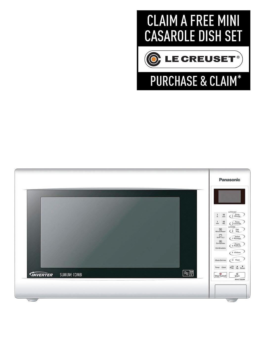 Panasonic Nn Ct552wbpq Slimline Combination Microwave