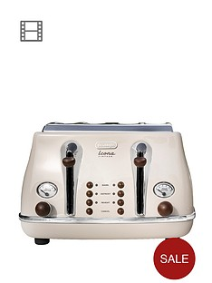 delonghi-ct0v4003bg-vintage-icona-4-slice-toaster-cream