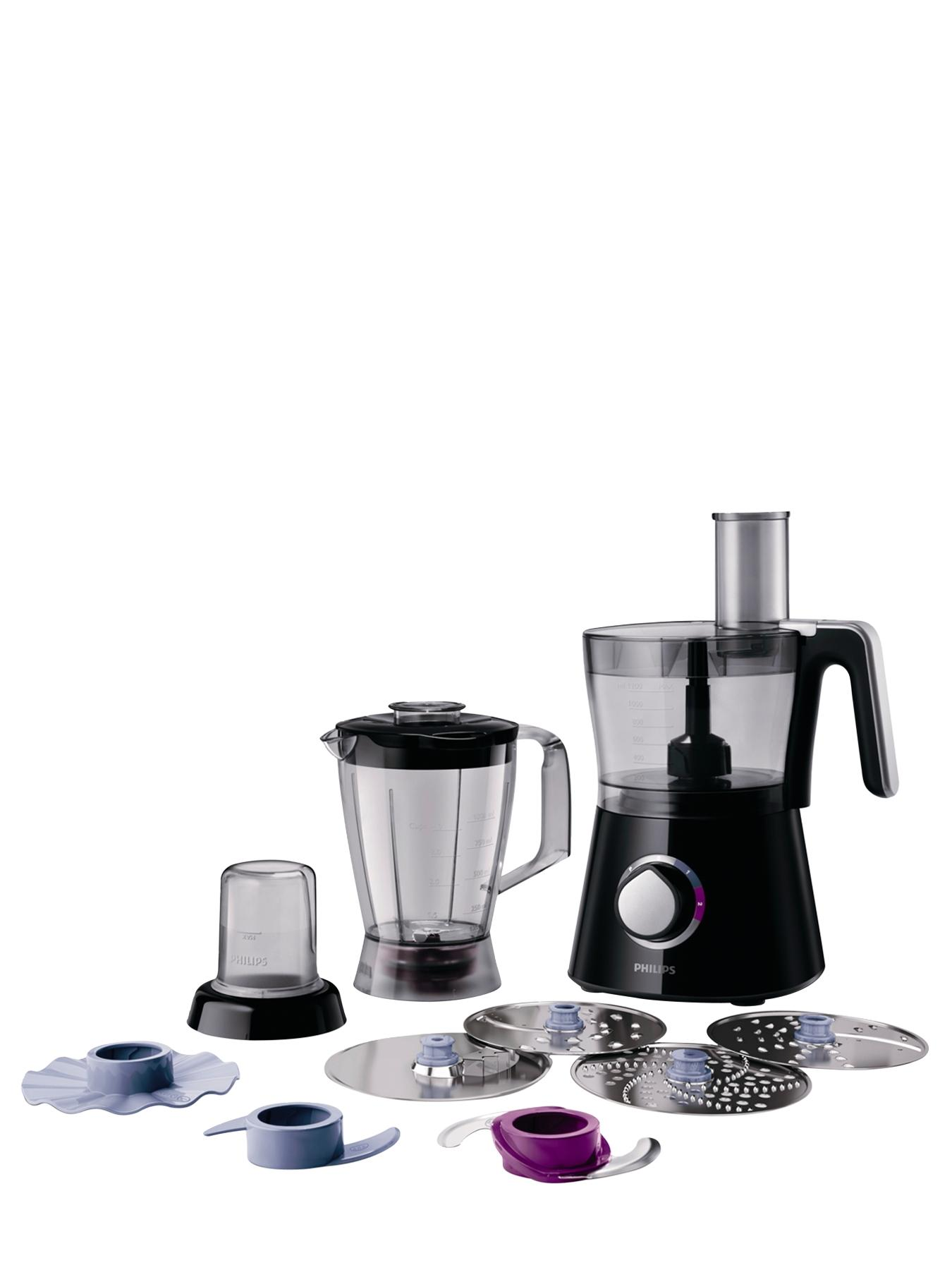 Philips HR7762 Viva Collection Food Processor - Black