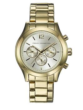 french-connection-gold-chrono-boyfriend-ladies-watch