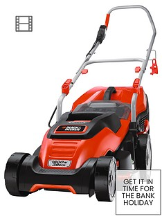 black-decker-emax38i-gb-1600-watt38cm-edgemax-compact-go-lawn-mower-free-prize-draw-entry