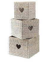 Water Hyacinth Woven Baskets (Set of 3)
