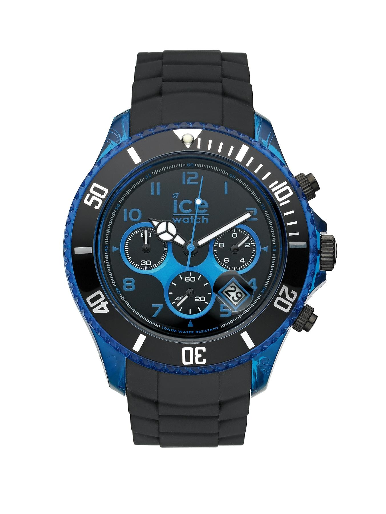 Ice-Watch Chrono Electrik Black Silicone Mens Watch