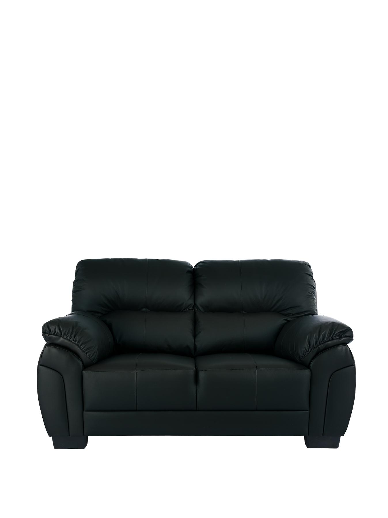 Ancona 2-Seater Sofa - Black, Black,Chocolate