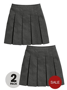 top-class-girls-school-uniform-plus-fit-woven-skirts-2-pack