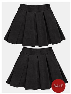 top-class-girls-school-uniform-pleated-skater-skirts-2-pack