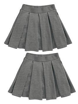 top-class-girls-school-uniform-pleated-skater-skirts-2-pack