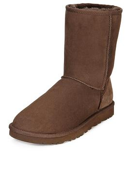 ugg-classic-short-boots-chocolate
