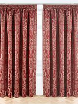 Viennese Swirl Jacquard Pencil Pleat Curtains