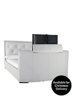 estates-faux-leather-tv-bed-frame-with-optional-mattress