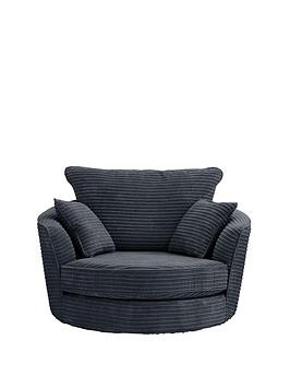Gladstone Fabric Snuggle Swivel Chair