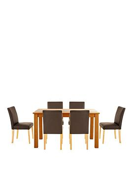 primo-150-cm-glass-panel-dining-table-and-6-lucca-chairs-set