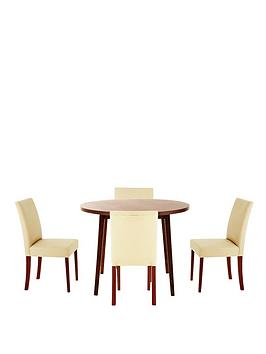 primo-100-cm-round-dining-table-and-4-lucca-chairs-set