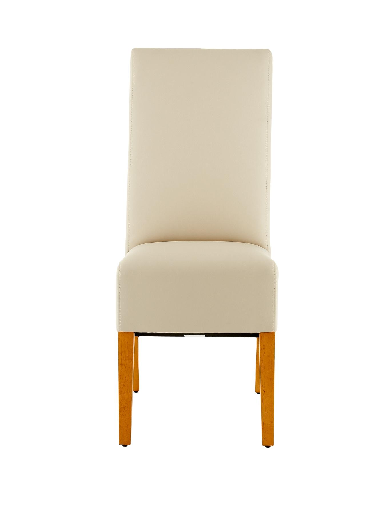New Eternity Set of 2 Chairs - Cream, Cream,Black,Brown
