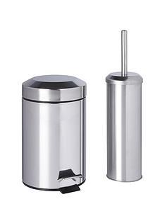 sabichi bathroom bin and brush set