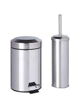 Sabichi bathroom bin and brush set for Bathroom bin and brush set