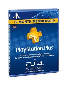 playstation plus 1 year sale