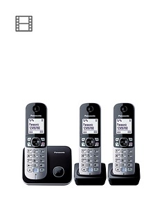 panasonic-kx-tg6813eb-triple-pack-dect-cordless-telephone-black