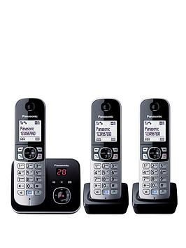 panasonic-kx-tg6823eb-triple-pack-cordless-telephone-with-answering-machine-black
