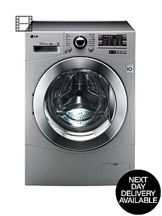 lg-f14a8tda5-1400-spin-8kg-load-washing-machine-silver-next-day-delivery