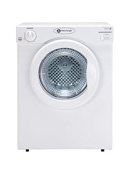 white-knight-c38aw-3kg-compact-vented-dryer-with-reverse-tumble-white