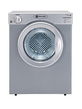 white-knight-c38as-3kg-compact-vented-dryer-with-reverse-tumble-silver