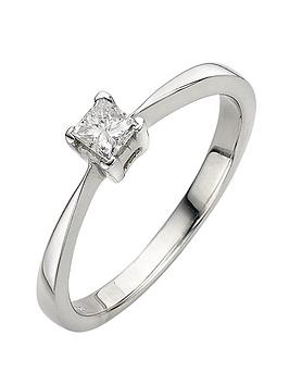 love-diamond-9-carat-white-gold-4-claw-033pt-princess-cut-diamond-solitaire-ring