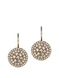 fossil-pave-rose-gold-earrings-with-glass-crystal-stones