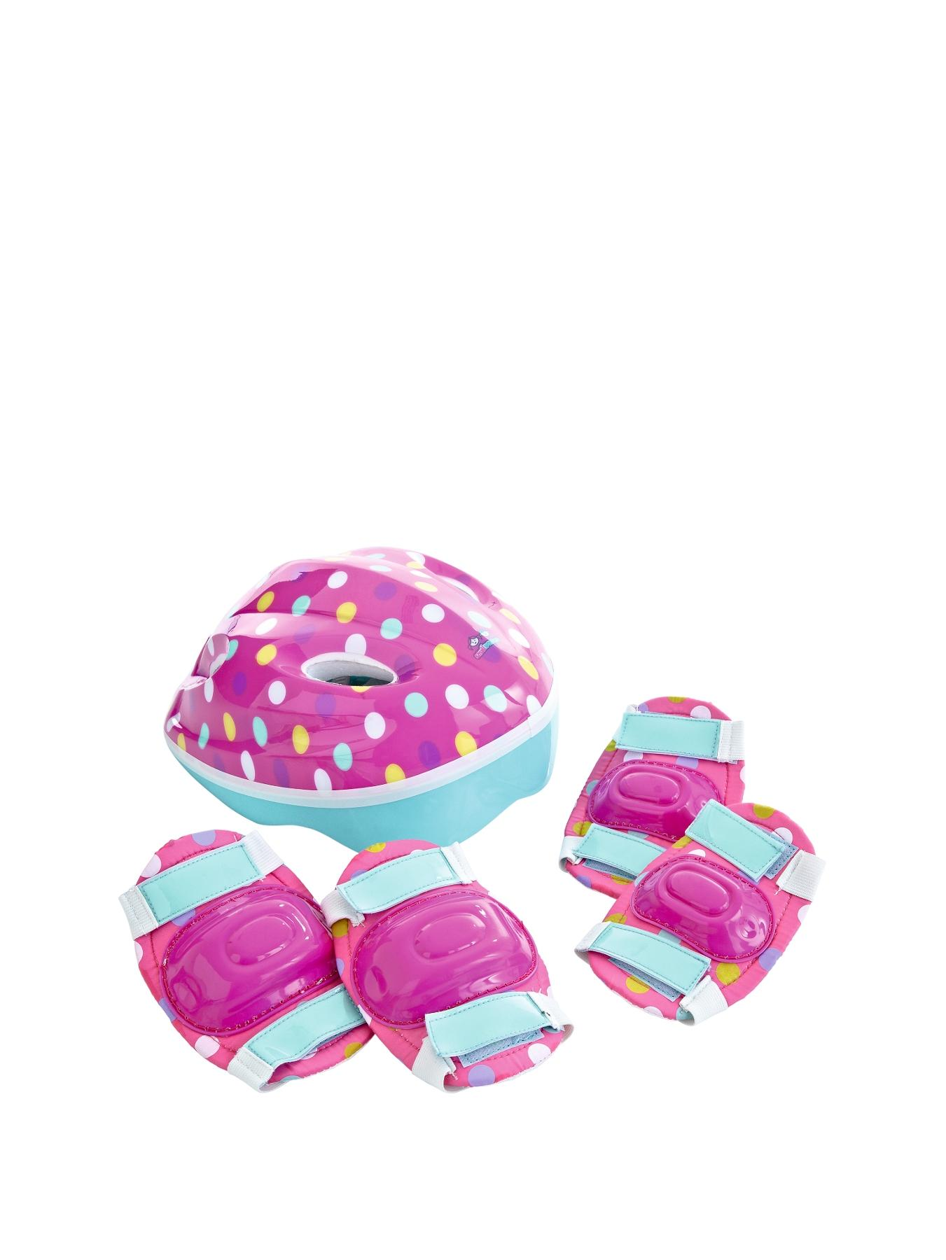 Small Wonders Safety Helmet, Knee and Elbow Pad Pack - Girls