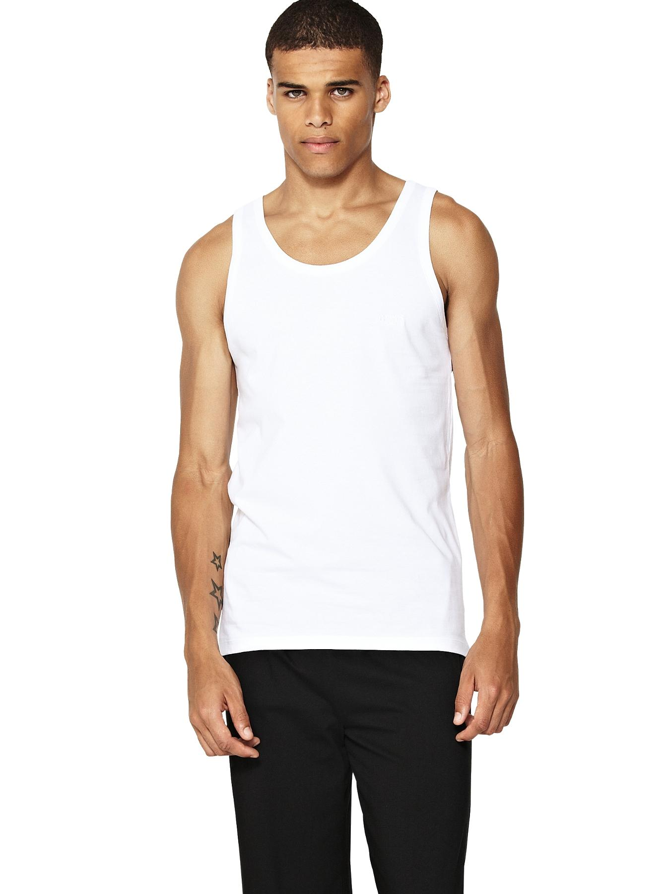 Hugo Boss Mens Core Vests (3 Pack) - White, White