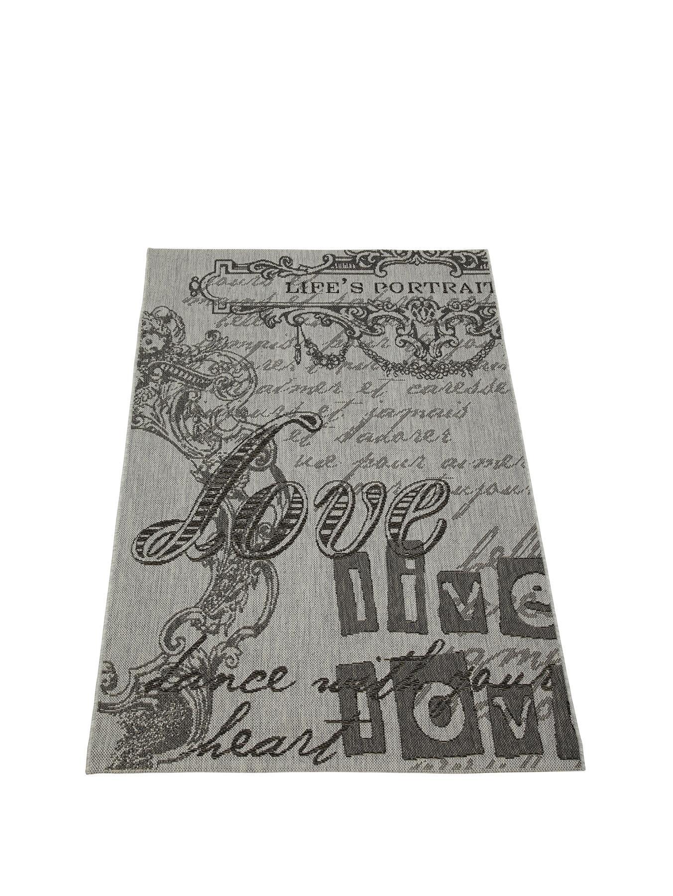 Vintage Flatweave Rug, Grey