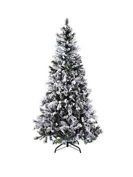 Princess Pine Flocked 6ft Christmas Tree