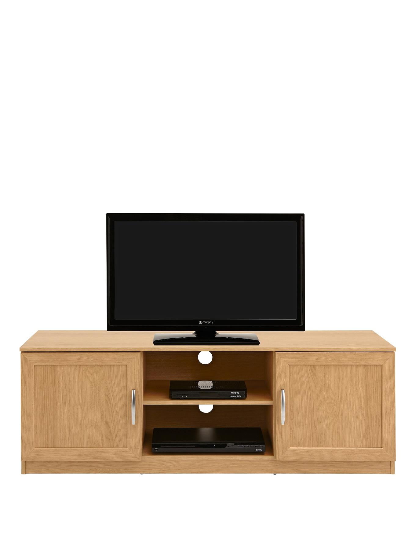 Oslo TV Unit - fits up to 50 inch TV - Black, Black