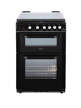 servis-dg60b-60cm-double-oven-gas-cooker-with-lid-black