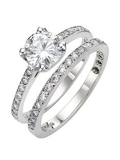 moissanite-9-carat-white-gold-14-carat-two-piece-bridal-set