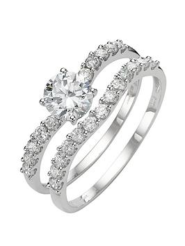 love-gem-9-carat-white-gold-cubic-zirconia-two-piece-bridal-set