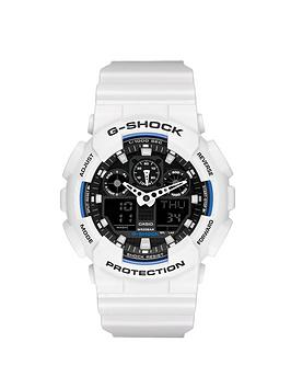 Casio G Shock Black Dial and White Case Mens Watch