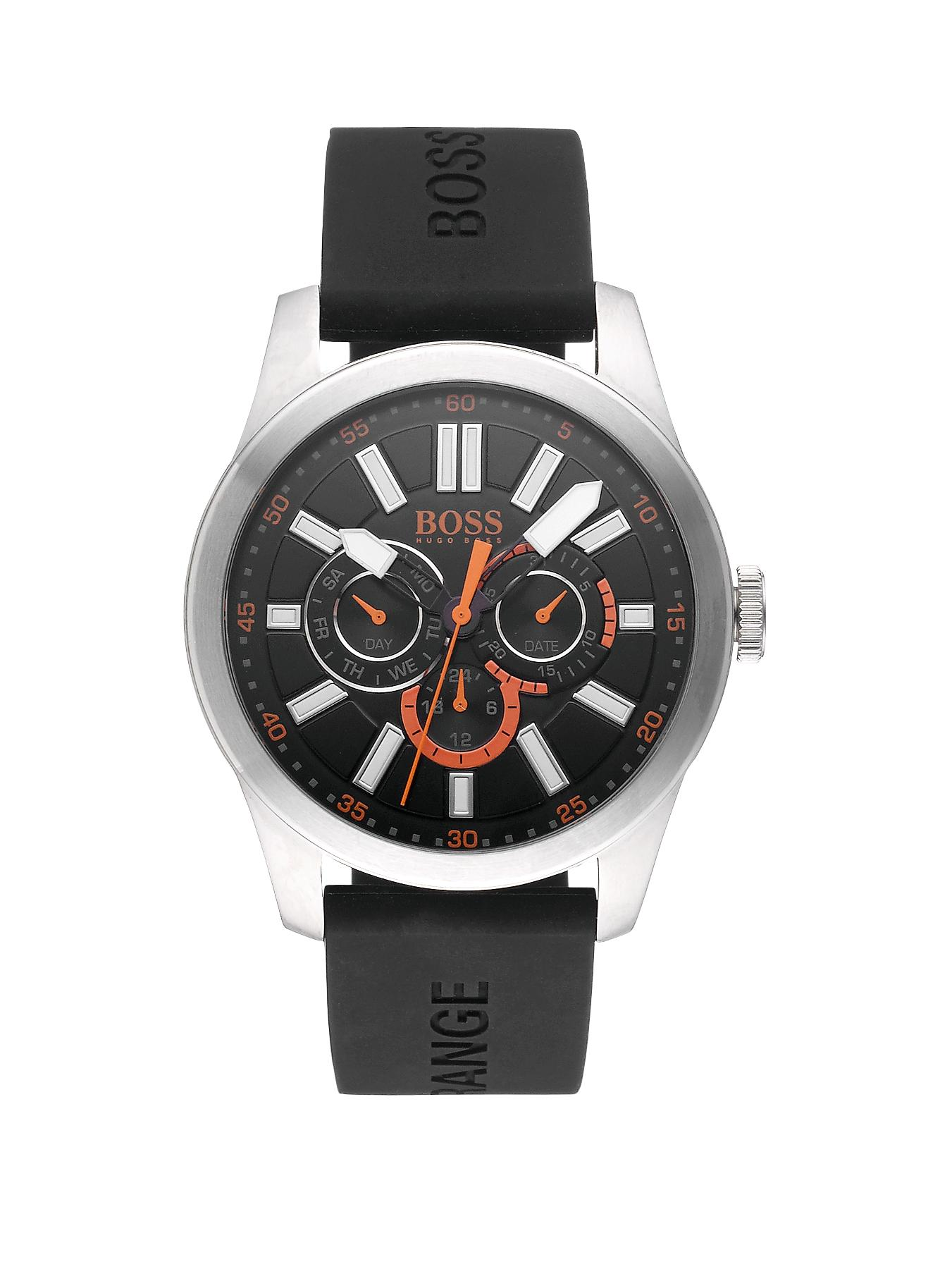 Hugo Boss Black Dial Bracelet Mens Watch