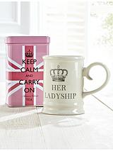 Keep Calm and Carry On - Her Ladyship Mug and Tea