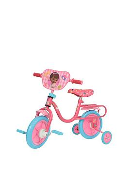 Disney's Doc McStuffins loves to make everyone feel great. Riding a Huffy bike makes you feel great, too! Huffy brings all the fun together with the inch Disney Doc McStuffins bike — just perfect for young riders. The bright steel frame features Doc and her friends, including on the side plaques.