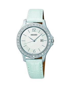 seiko-ladies-crystal-set-white-leather-strap-watch