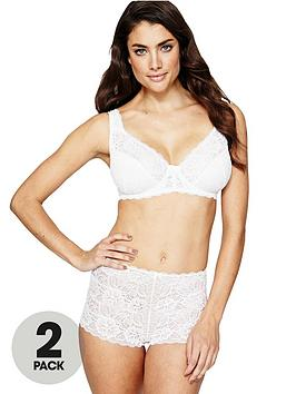 sorbet-elegance-glossy-lace-bras-2-pack-blackwhite
