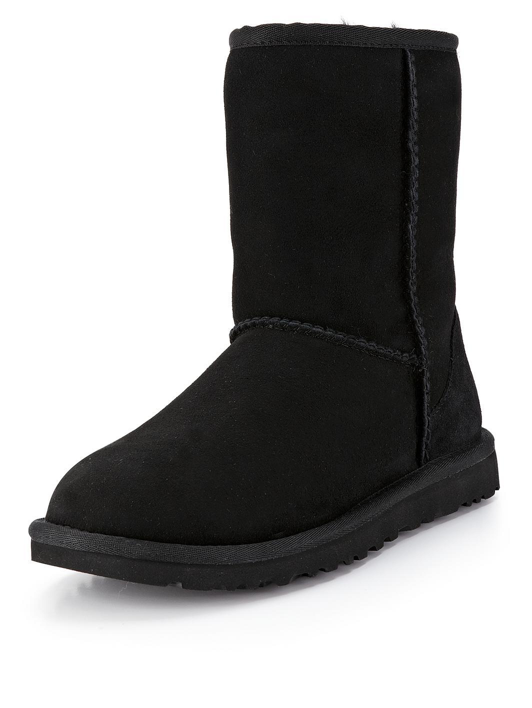 ugg black slippers uk