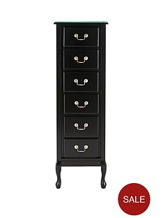 elysee-plain-front-narrow-chest-of-6-drawers