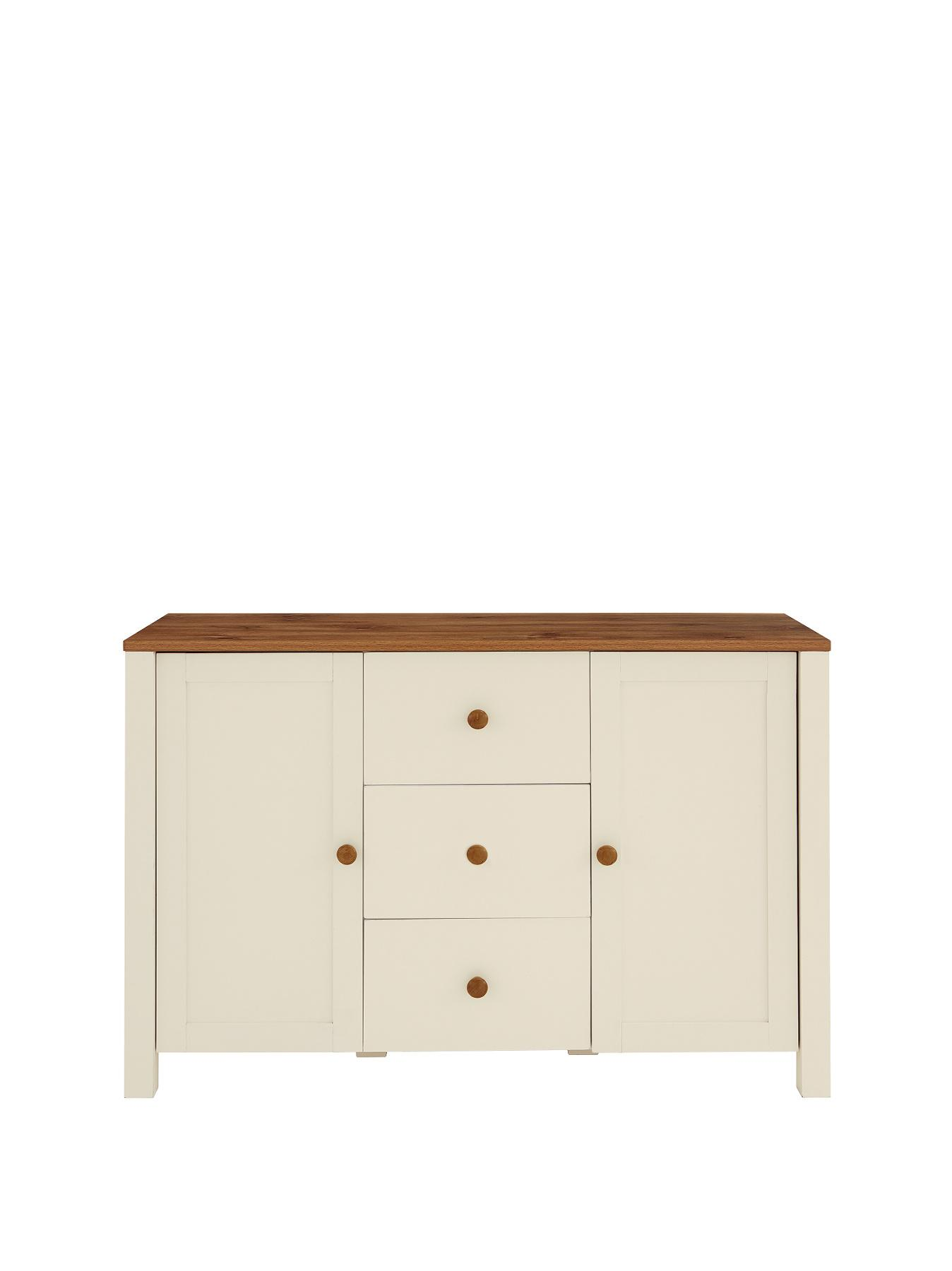 New Westminster 2-Door, 3-Drawer Sideboard - Cream, Cream