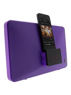 kitsound-fresh-8-pin-lightning-clock-radio-speaker-docking-station-purple