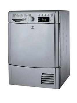 indesit-ecotime-idce8450bsh-8kg-load-condenser-dryer-silver